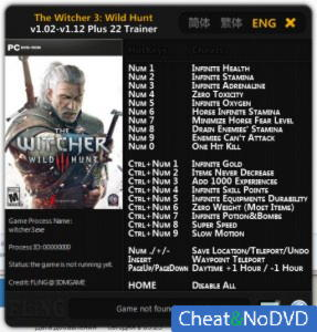 The Witcher 3: Wild Hunt трейнер Trainer +22 v1.02 - 1.12 {FLiNG}