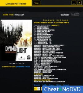Dying Light: The Following трейнер Trainer +35 v1.10.01.0 {LinGon}