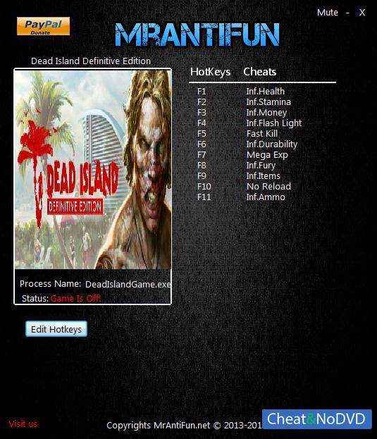 скачать Dead Island Definitive Edition трейнер - фото 3
