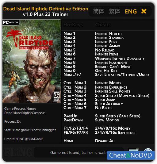 скачать Dead Island Definitive Edition трейнер - фото 2