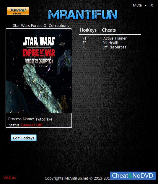 скачать Star Wars Empire At War Forces Of Corruption трейнер - фото 4