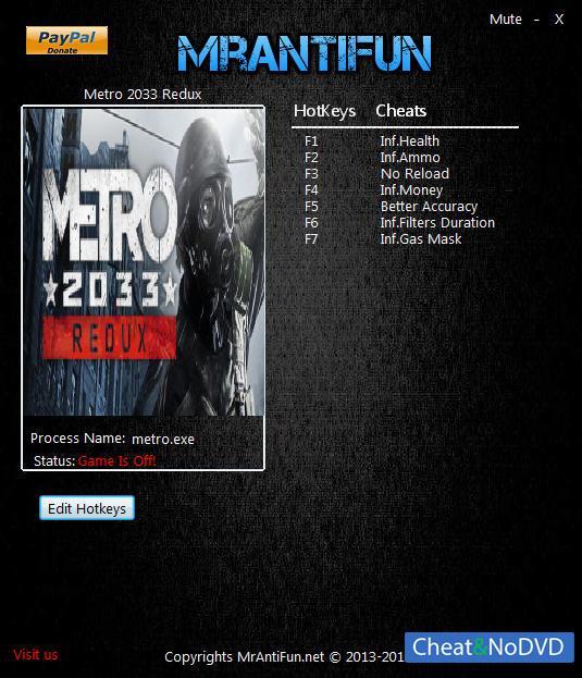 Скачать Читы Для Metro 2033 Redux - фото 10