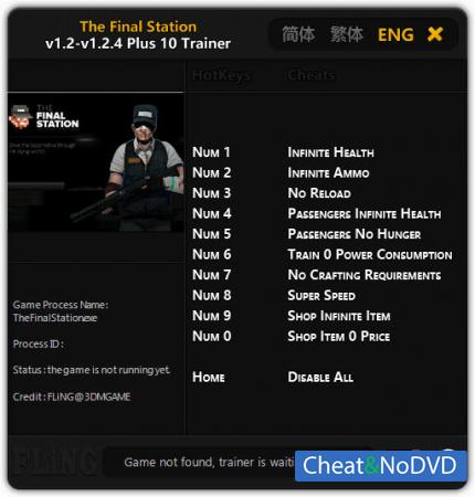 The Final Station трейнер Trainer +10 v1.2 - 1.2.4 {FLiNG}
