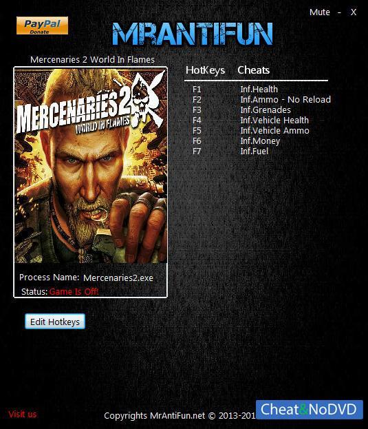 скачать читы для Mercenaries 2 World In Flames - фото 4
