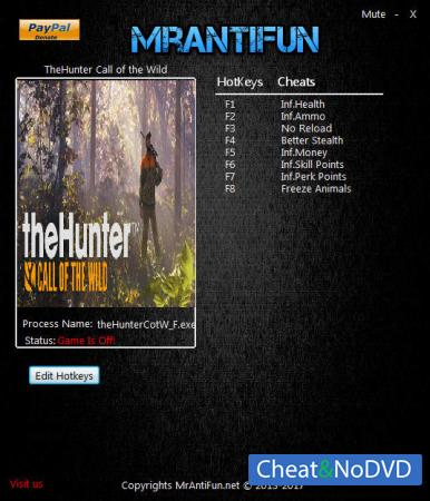 theHunter: Call of the Wild трейнер Trainer +8 v1.8 {MrAntiFun}