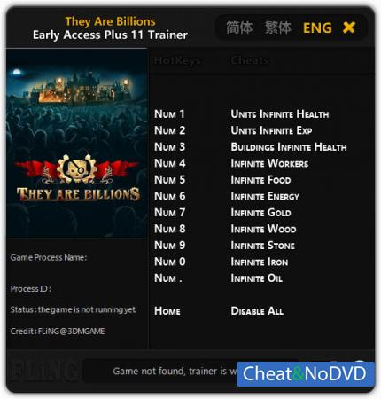 They Are Billions трейнер Trainer +11 Early Access {FLiNG}
