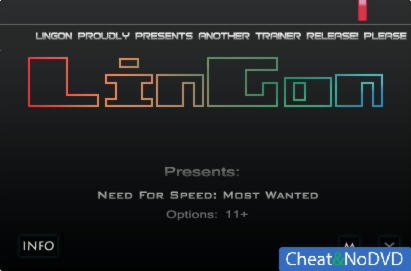 Need for Speed: Most Wanted (2012) трейнер +11 v1.0 {LinGon}