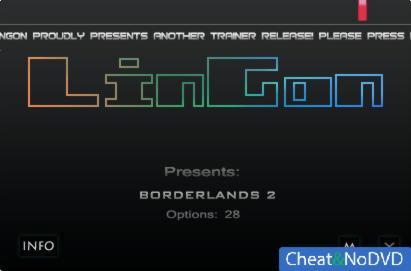 Borderlands 2 трейнер +28 v1.0.0.3 {LinGon}