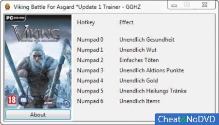 Viking: Battle for Asgard трейнер +7 Up1 {Chris/GGHZ}