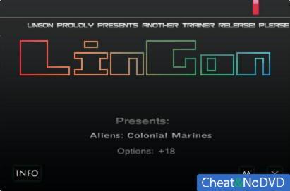Aliens: Colonial Marines трейнер +18 v1.0.195.24838 {LinGon}