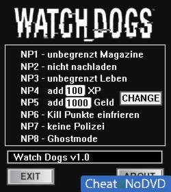 Watch Dogs трейнер +8 v1.03.471 {dR.oLLe}