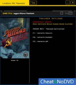 Jagged Alliance: Flashback трейнер Trainer +3 v1.0 {LinGon}
