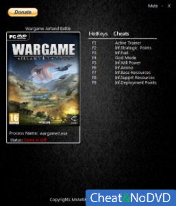 Wargame: AirLand Battle трейнер Trainer +8 v15.08.14.21 {MrAntiFun}