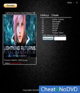 Lightning Returns: Final Fantasy 13 трейнер Trainer +7 v1.0 {MrAntiFun}