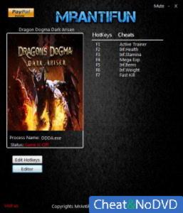 Dragons Dogma: Dark Arisen трейнер Trainer +13 v1.0 {MrAntiFun}