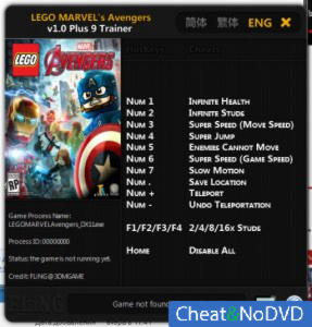 LEGO Marvel's Avengers трейнер Trainer +9 v1.0 x64 {FLiNG}