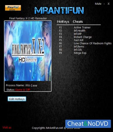 Final Fantasy X / X-2 HD Remaster трейнер Trainer +8 v1.00 {MrAntiFun}