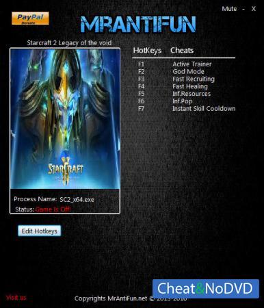 StarCraft 2: Legacy of the Void трейнер Trainer +6 v3.3.1.43199: x64 {MrAntiFun}
