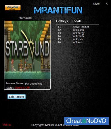 Starbound трейнер Trainer +5 v16.12.2015 {MrAntiFun}