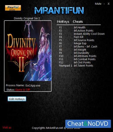 Divinity: Original Sin 2 трейнер Trainer +14 v2.0.164.992 {MrAntiFun}