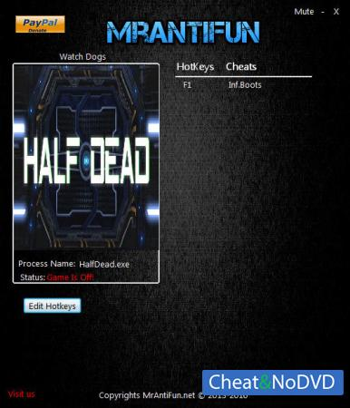 Half Dead трейнер Trainer +1 v1.05 {MrAntiFun}