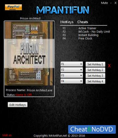 Prison Architect трейнер Trainer +4 v11f Jan 9 {MrAntiFun}