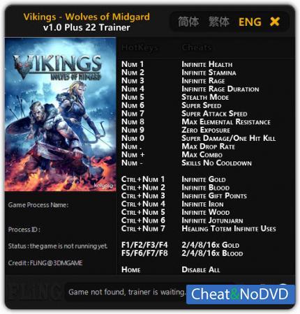 Vikings - Wolves of Midgard трейнер Trainer +22 v1.0 {FLiNG}