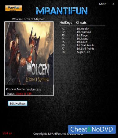 Wolcen: Lords of Mayhem трейнер Trainer +8 v0.4.0 {MrAntiFun}