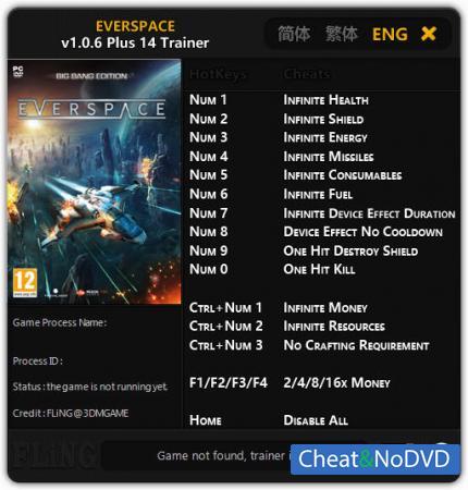 Everspace трейнер Trainer +14 v1.0.6 {FLiNG}