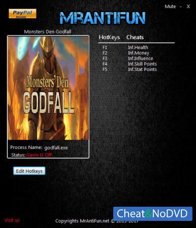 Monsters' Den: Godfall трейнер Trainer +5 v1.1 {MrAntiFun}