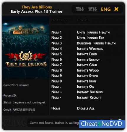 They Are Billions трейнер Trainer +13 Early Access {FLiNG}