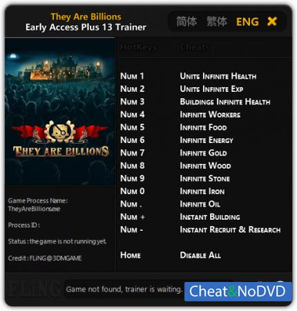 They Are Billions трейнер Trainer +13 Early Access Updated 2017.12.12 {FLiNG}