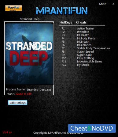 Stranded Deep трейнер Trainer +11 v0.44.00 64bit {MrAntiFun}