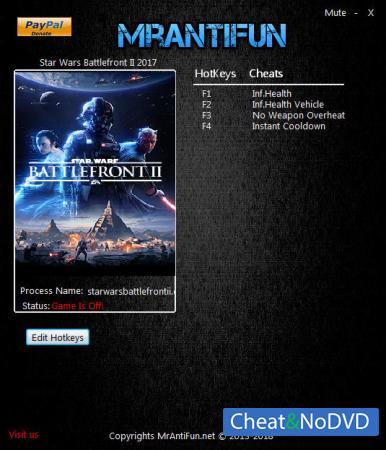 Star Wars: Battlefront 2 2017 трейнер Trainer +4 v05.08.2018 {MrAntiFun}