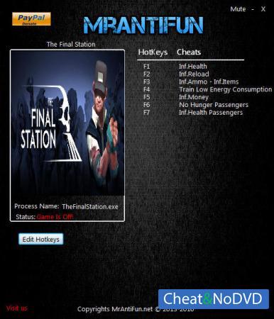 The Final Station трейнер Trainer +8 v1.5.2  {MrAntiFun}