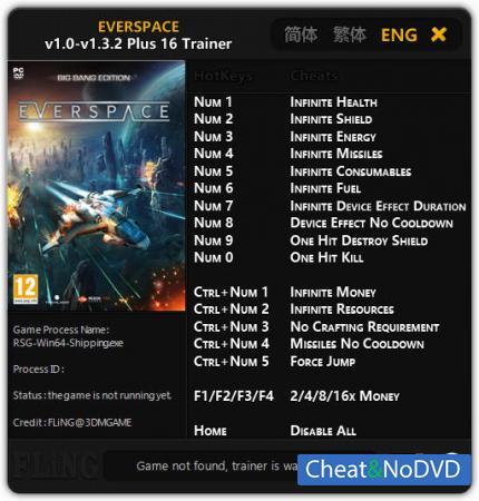 Everspace трейнер Trainer +16 v1.3.2 {FLiNG}