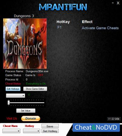 Dungeons 3 трейнер Trainer +20 v1.5.1 {MrAntiFun}