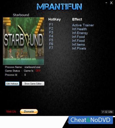 Starbound трейнер Trainer +6 v1.3.4 32bit {MrAntiFun}