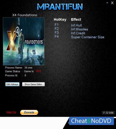 X4: Foundations трейнер Trainer +4 v1.2 {MrAntiFun}