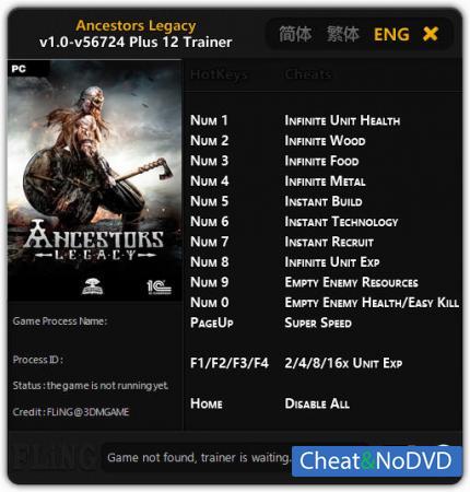 Ancestors Legacy трейнер Trainer +12 v56724 {FLiNG}