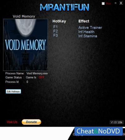 Void Memory трейнер Trainer +2 v.181229A {MrAntiFun}