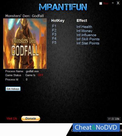 Monsters' Den: Godfall трейнер Trainer +5 v1.19.0 {MrAntiFun}
