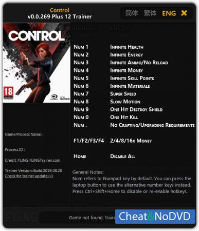 Control трейнер Trainer +12 v0.0.269 {FLiNG}