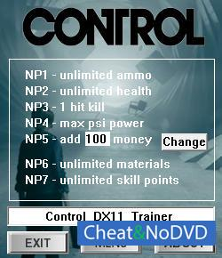 Control трейнер Trainer +7 v0.0.275 {dR.oLLe}