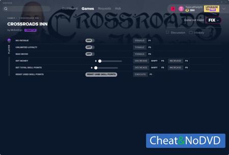 Crossroads Inn трейнер Trainer +6 v2.0.5 {MrAntiFun}