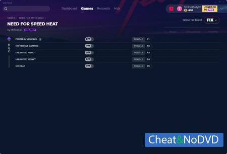 Need for Speed Heat трейнер Trainer +5 v07.02.2020 {MrAntiFun}