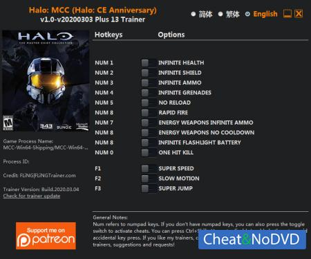 Halo: The Master Chief Collection трейнер Trainer +13 v2020.03.04 {FLiNG}
