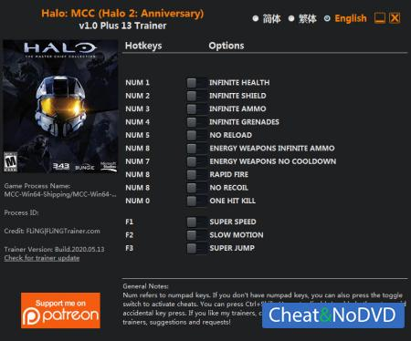 Halo: The Master Chief Collection трейнер Trainer +13 v2020.05.13 {FLiNG}