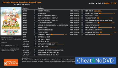 Story of Seasons: Friends of Mineral Town трейнер Trainer +29 v1.0 {FLiNG}