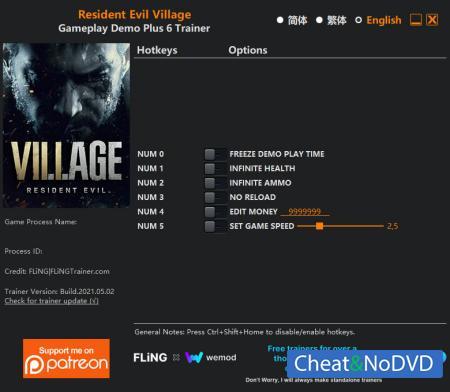 Resident Evil Village трейнер Trainer +6 Gameplay Demo {FLiNG}